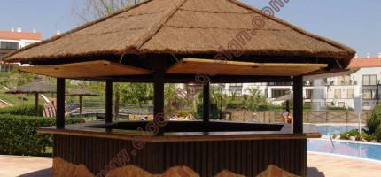 Bar tropical hexagonal